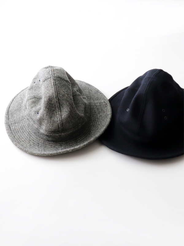 orslow(オアスロウ)  US Navy Hat -Melton wool Herringbone Twill