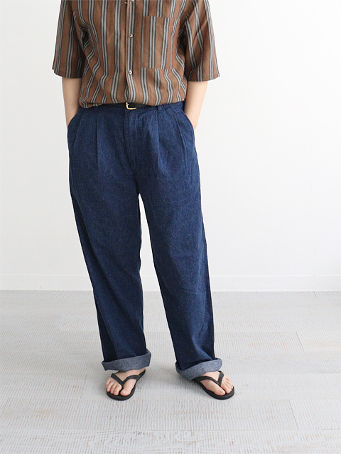 orSlow(オアスロウ) Two Tuck Denim Trousers