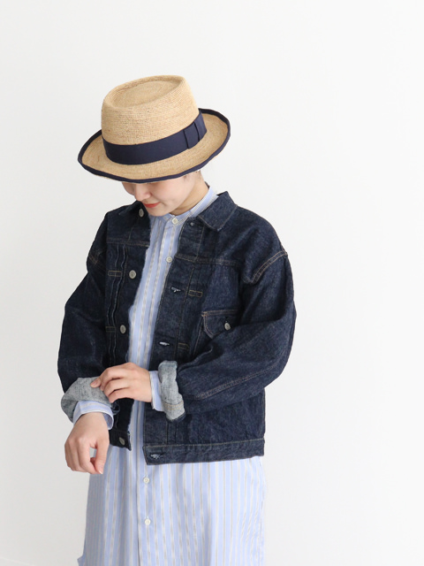 orSlow(オアスロウ) PLEATED FRONT BLOUSE -ONE WASH