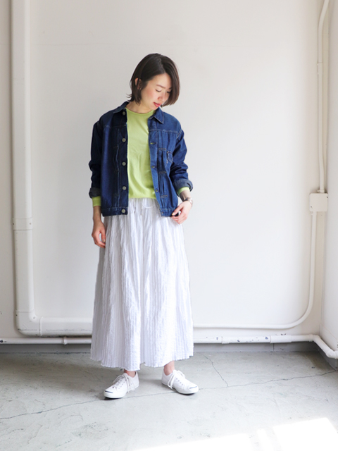 orslow(オアスロウ) Pleated Front Blouse 1Year Wash -ナイモノねだり