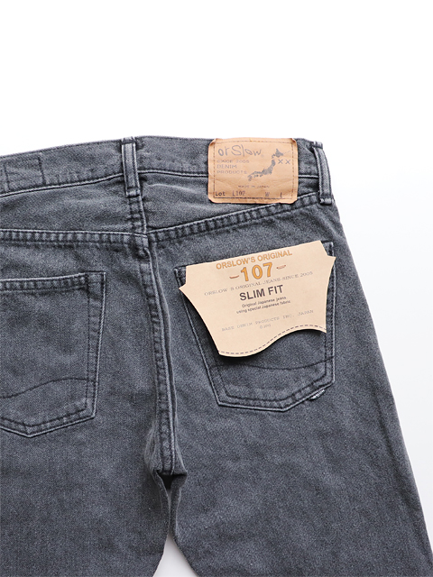 orslow(オアスロウ) IVY FIT DENIM 107 -Black Denim Stone