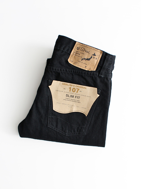 orslow(オアスロウ) IVY FIT DENIM 107 -Black Denim