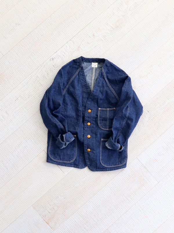 orSlow(オアスロウ) No Collar Coverall -ONE WASH