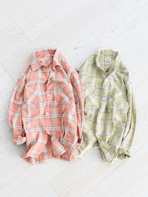 PENNEY'S(ペニーズ) 60s CHECK OPEN SHIRTS