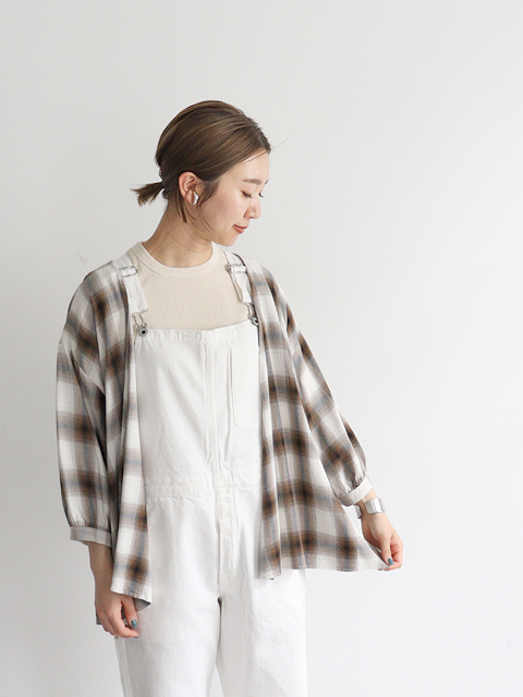 PHEENY(フィーニー)  Rayon ombre check cache-coeur shirt