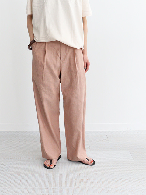 Phlannel (フランネル) American Sea Island Linen Wide Straight Slacks