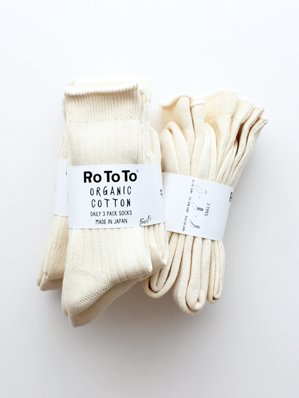 RoToTo(ロトト) ORGANIC COTTON DAILY 3 PACK SOCKS