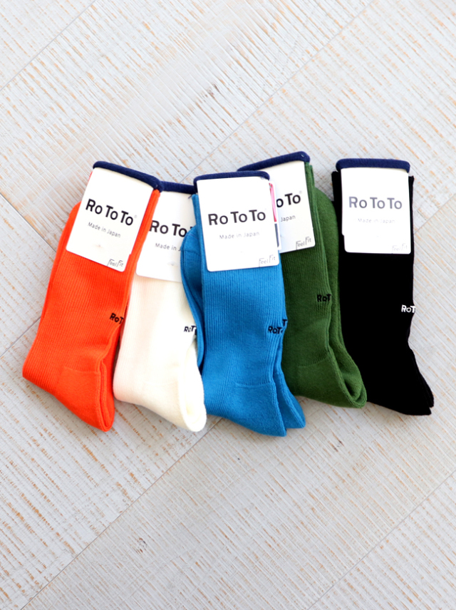 "RoToTo(ロトト) RIB PILE SOCKS ""OUTLAST"""