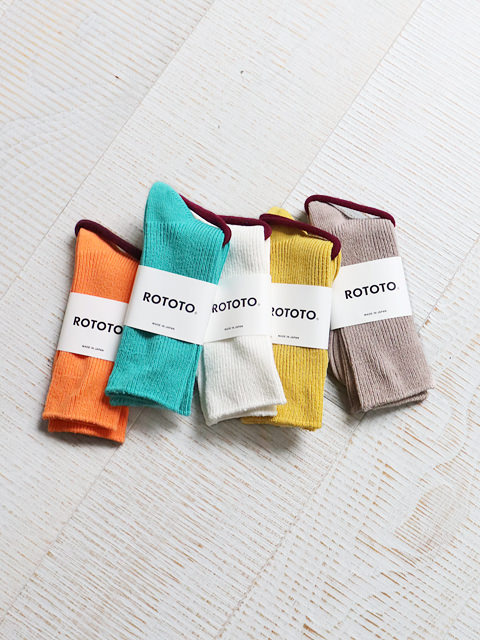 RoToTo(ロトト) RECYCLED COTTON RIBBED SOCKS