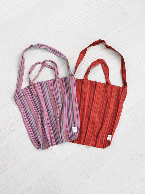 SOUTH2 WEST8(サウスツーウェストエイト) Grocery Bag -Stripe Crepe