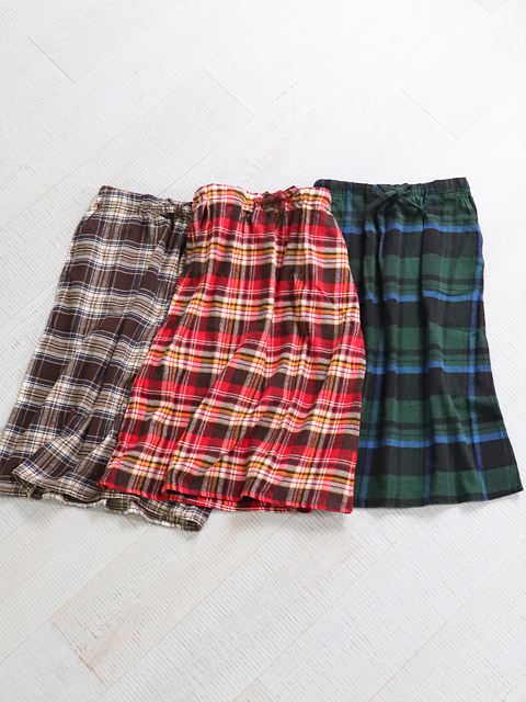 SOUTH2 WEST8(サウスツーウェストエイト) String Skirt -Cotton Twill Plaid