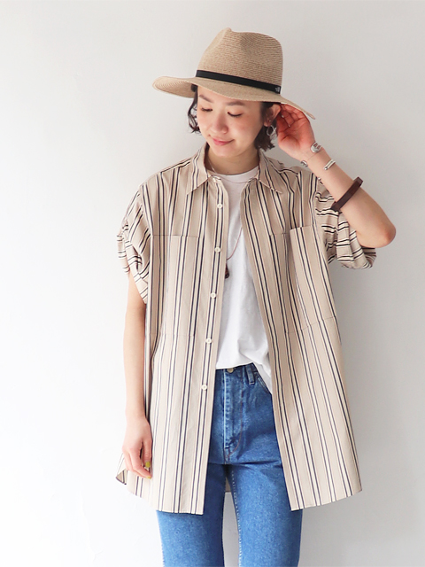 unfil (アンフィル) washed egyptian cotton-twill shirt