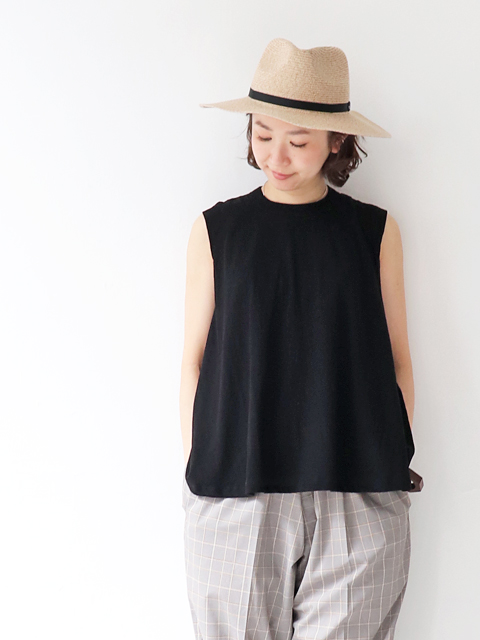 unfil (アンフィル) cotton nep  jersey  sleeveless A-line top