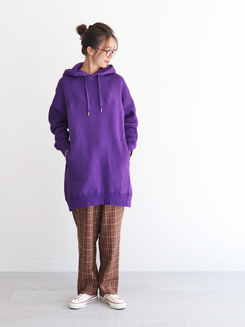 unfil (アンフィル) cotton fleece long hoodie