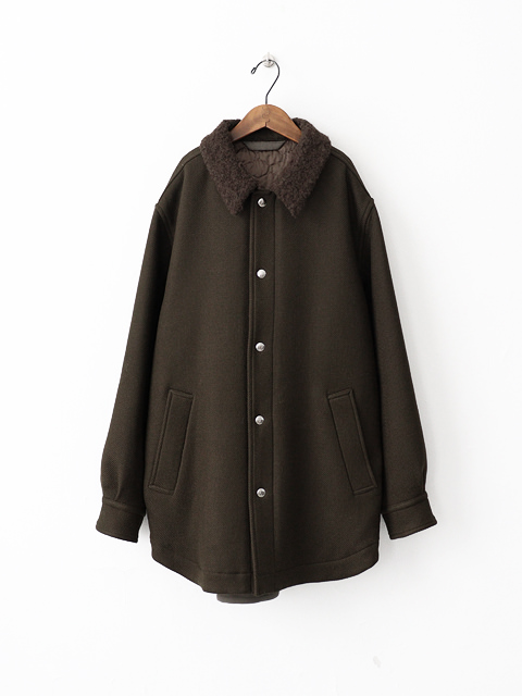 unfil (アンフィル) corriedale double twill shirt jacket