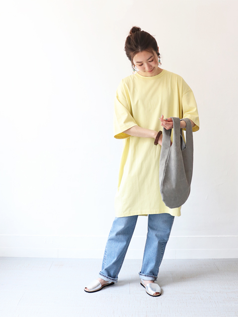 unfil (アンフィル) suvin cotton jersey oversized T-shirt dressunfil (アンフィル) suvin cotton jersey oversized T-shirt dress