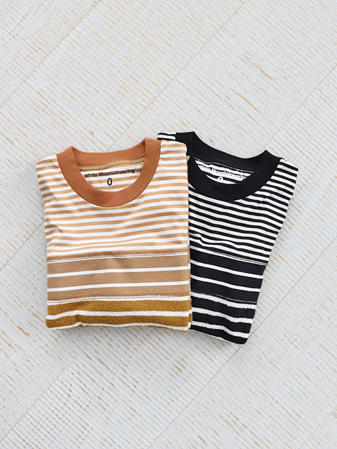 White Mountaineering (ホワイトマウンテニアリング) CONTRASTED BORDER LONG SLEEVES T-SHIRT