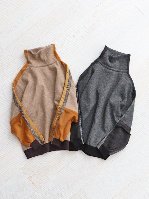 White Mountaineering (ホワイトマウンテニアリング) CONTRASTED HIGH NECK PULLOVER