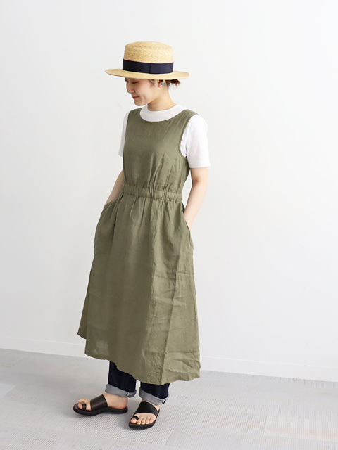 Ordinary fits(オーディナリーフィッツ)LINEN NOSLEEVE ONEPIECE