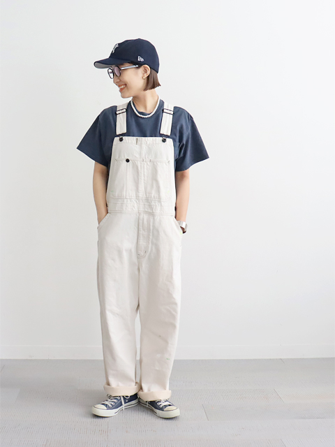 Re: ORDINARY(リオーディナリー) DENIM WORK OVERALL -WHITE USD