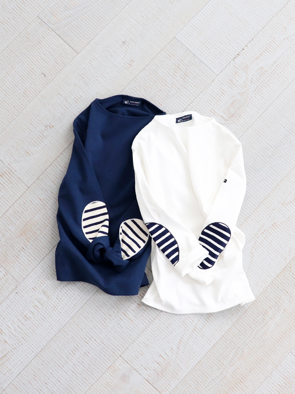 SAINT JAMES (セントジェームス) OUESSANT ELBOW PATCH -SOLID