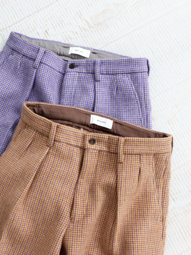 WELLDER(ウェルダー) Two Tuck Tapered Trousers