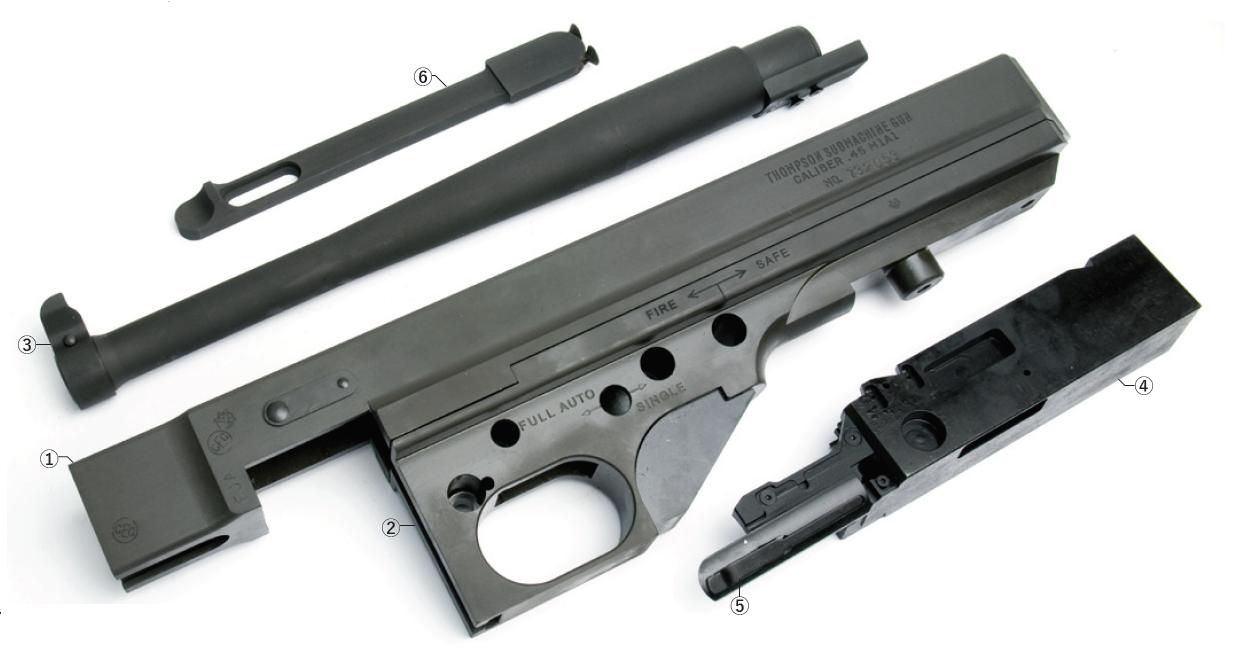 New Generation Cybergun/WE Thompson GBB用 Thompson M1A1 スティールレシーバーコンバージョンキット