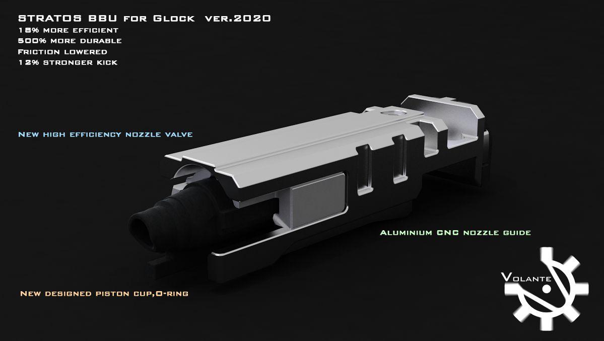 VOLANTE Airsoft 東京マルイ Glock17 Gen.3/22/26/34 対応 Stratos ブローバックユニット(2020ver.)