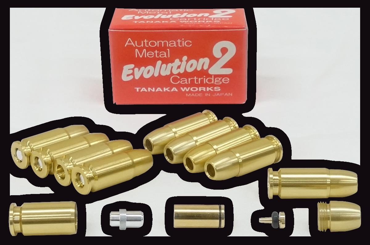 タナカ オートマチック・メタル・Evolution2 カートリッジ 9mm オートマチックモデルガン共用 10発セット