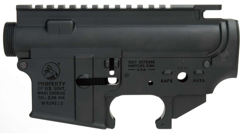★送料無料★ANGRY GUN マルイM4MWS対応 Colt M4A1 レシーバーセット (ロールスタンプ仕様/6061-T6アルミ)