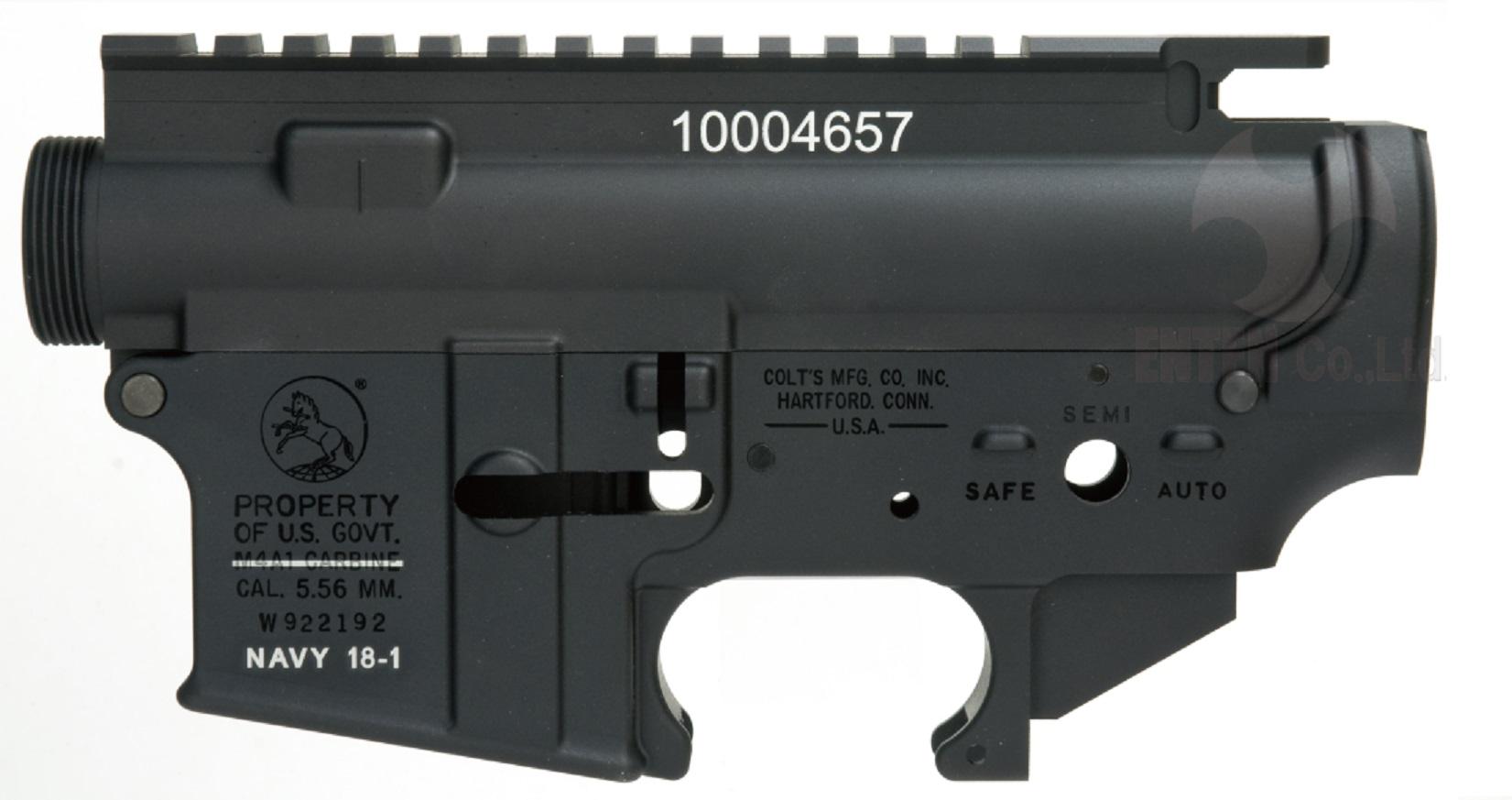 ANGRY GUN マルイM4MWS対応 MK18 MOD.1 レシーバーセット (ロールスタンプ仕様/6061-T6アルミ)