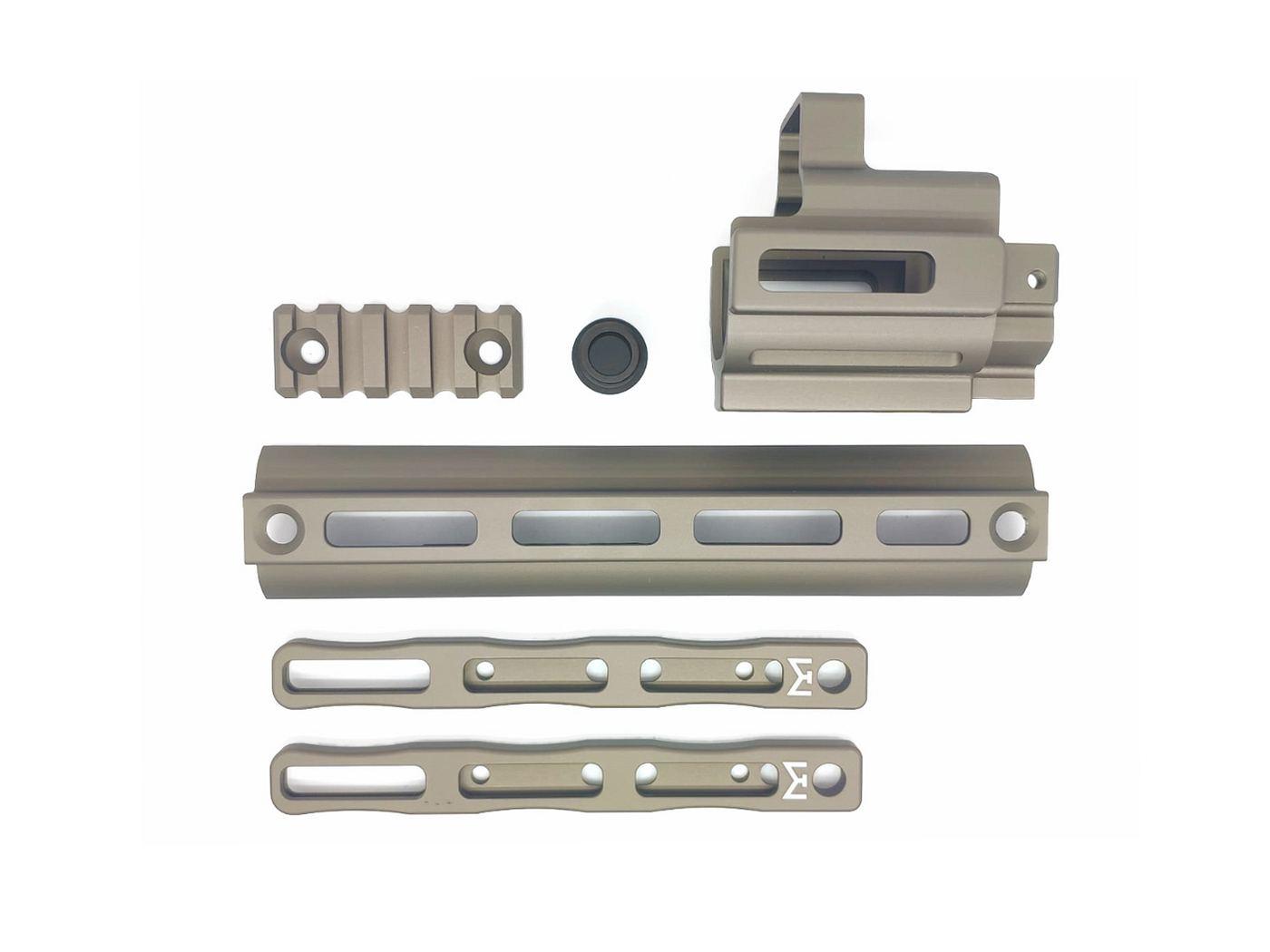 CloneTech PMM型 SCAR M-LOKレイルアダプター/エクステンションキット (マルイ