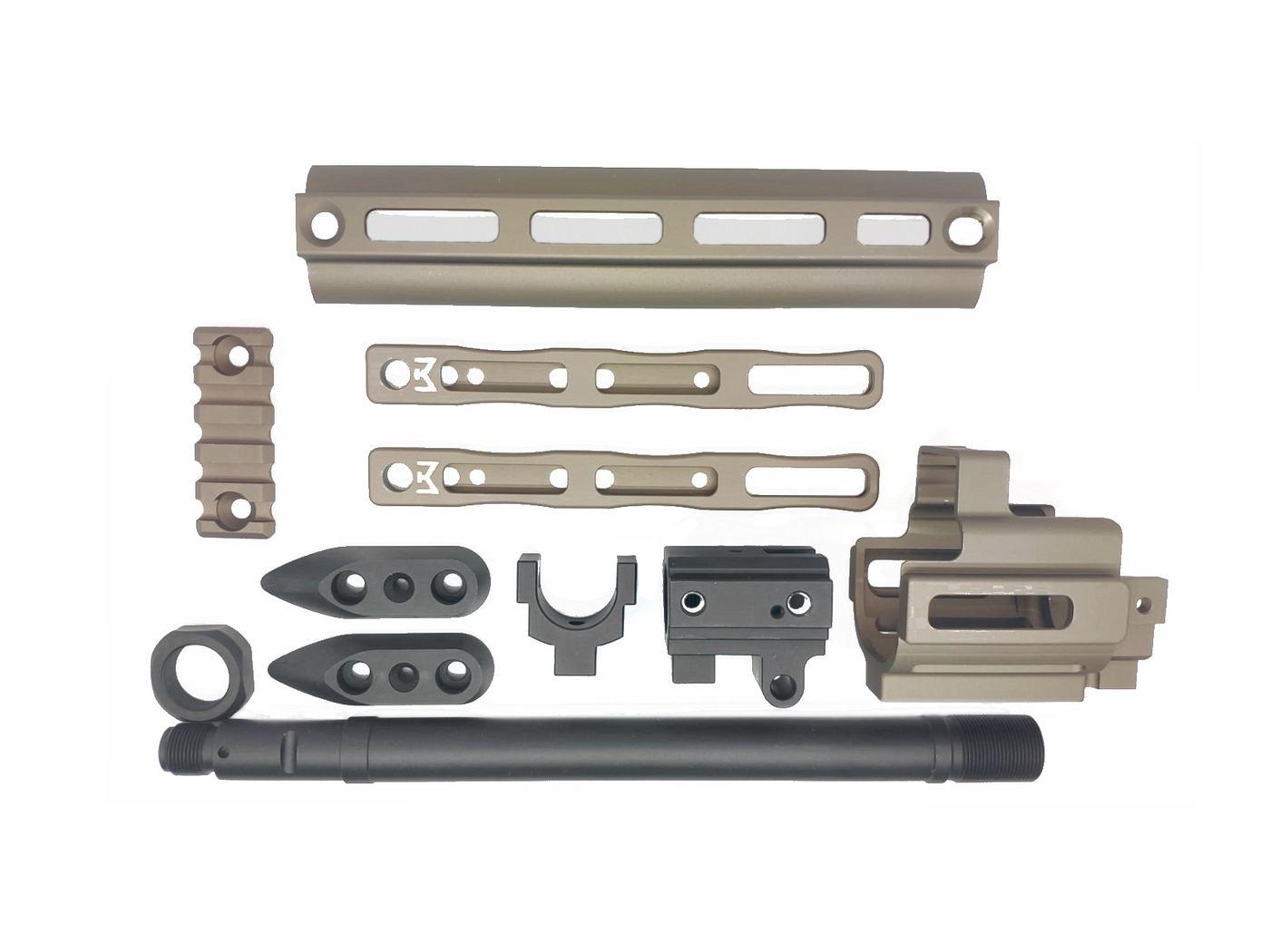 CloneTech PMM型 SCAR M-LOKレイルアダプター/エクステンションキット DX (WE SCAR GBB対応) BK/FDE