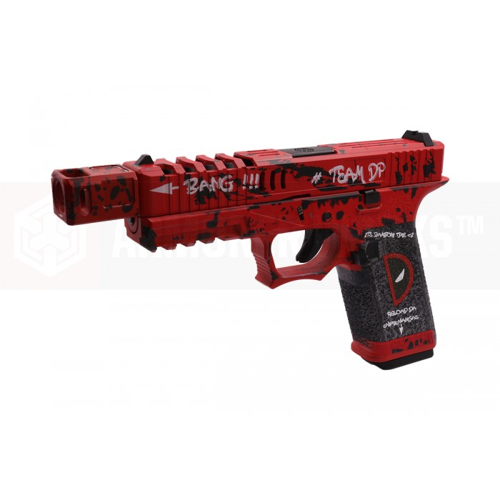 AW CUSTOM VX7202 G17-TYPE COMP GBB/StraightSerration (Red)