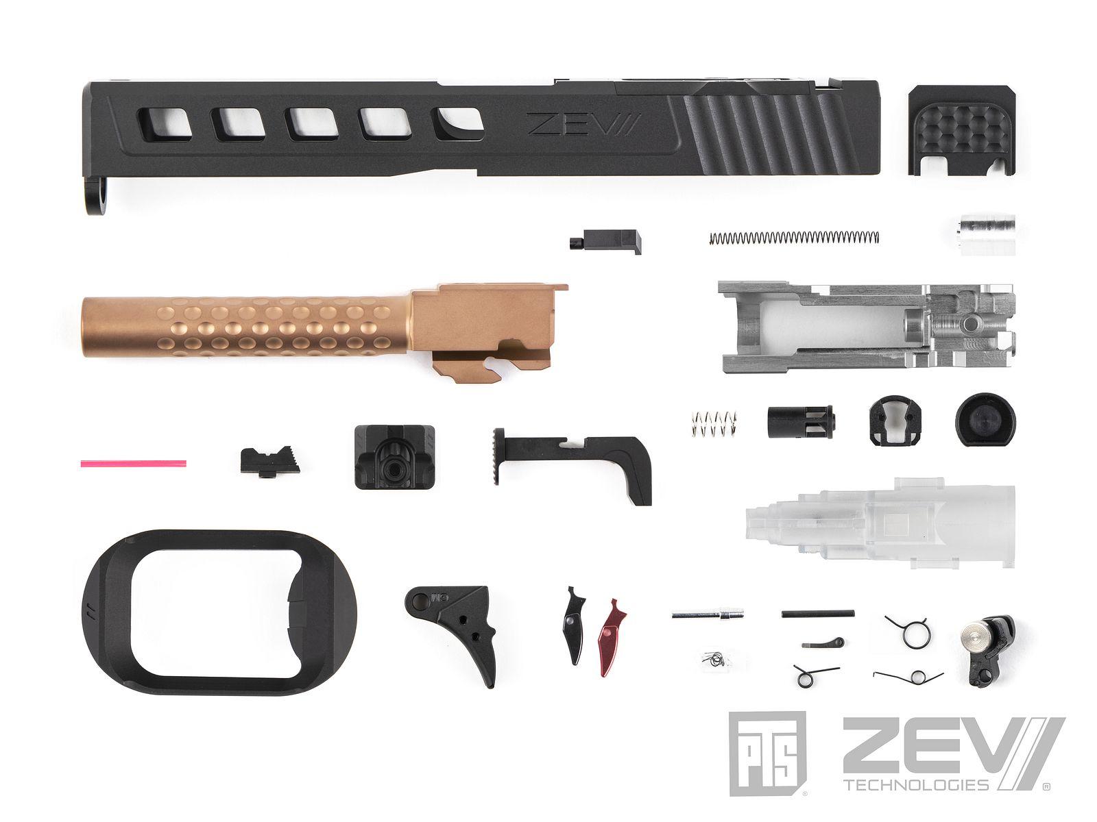 PTS ZEV Dragonfly マルイG17用スライドキット/Leupold DP-PRO用