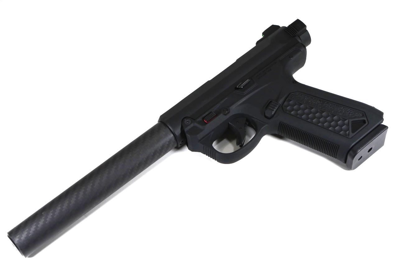 【オリジナル】 AAP-01 アサシン(ASSASIN)用 リアルカーボン サプレッサー 150mm