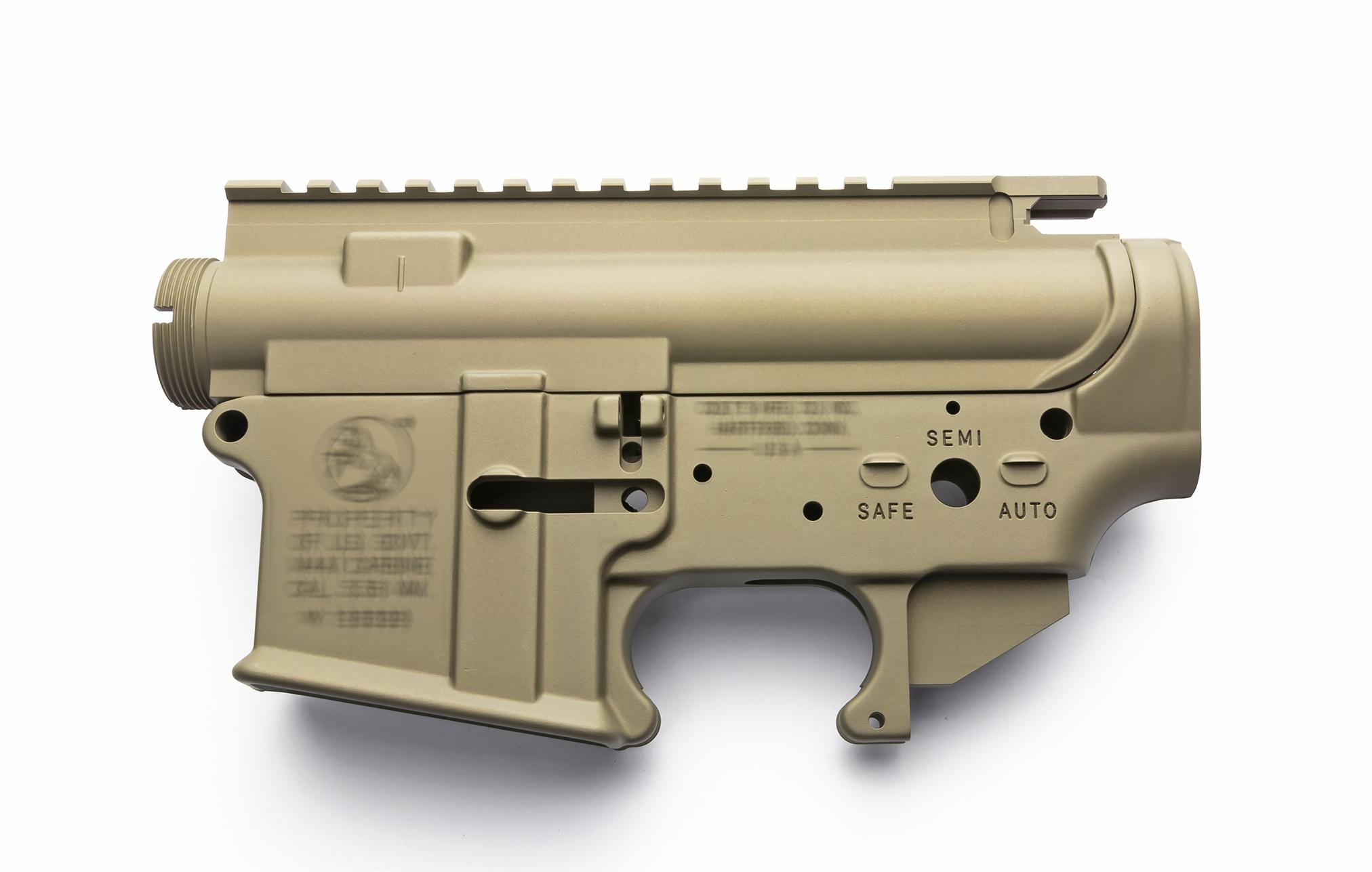 RA-TECH/SDP 鍛造7075アルミレシーバーセット WE AR M4 M16用 FDE (COLT MK18 MOD1)