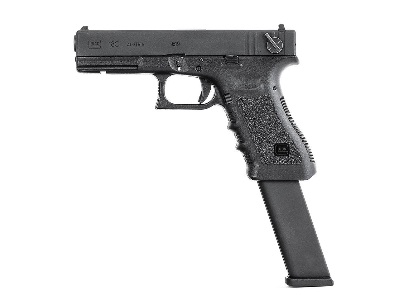 Umarex GlockAirsoft G18C GBBハンドガン (BK) [2.6419-UXA]