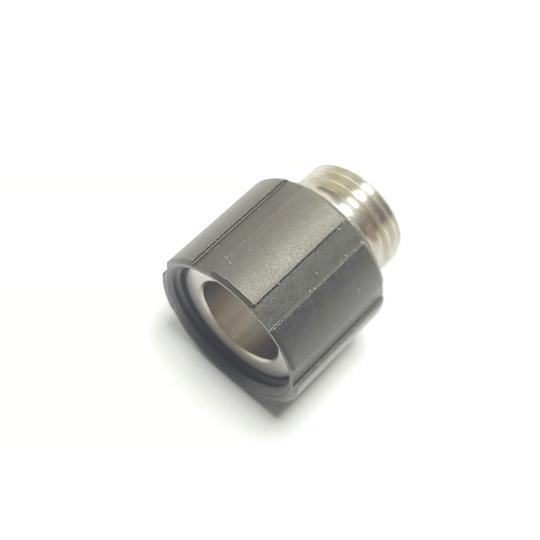 Airsoft Artisan WE ガスハンドガン用ステンレスマズルアダプター Black (11mm正ネジ→14mm逆ネジ)