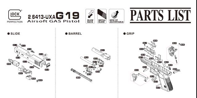 Umarex Glock19Gen 3パーツ/01-12 スクリューM2 6*10 [PSCW261022]