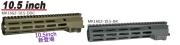 ANGRY GUN Geissele SMR MK16 M-LOK レイルハンドガード 東京マルイ 次世代/STD 電動/MWS M4/KSC/VFC GBB M4 対応(2020Ver.) 10.5inch
