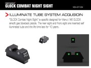 NorthEast Glock Combat NightSights/トリチウムナイトサイト (マルイ/WE Glock用)