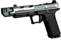 EMG STRIKE INDUSTRIES ARK17 GBB ハンドガン(Mass Driver Compモデル) Dual Silver