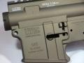 【オリジナル】 マーキング+セラコート RA-TECH 鍛造アルミレシーバーセット WE M4 GBB用(LWRC M6A2 Burnt Bronze)
