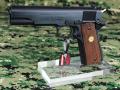 SAA ハンドガン用アクリルガンスタンド シングルカラムタイプ