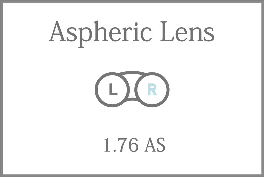 プラスチック 単焦点 1.76超薄型 非球面レンズ