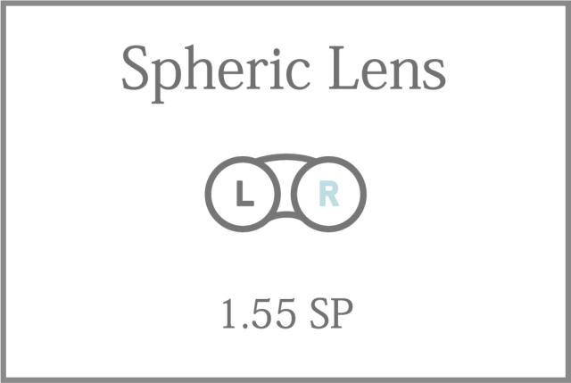 プラスチック 単焦点 1.55 球面レンズ