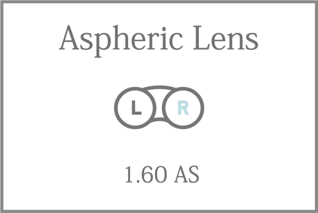 プラスチック 単焦点 1.60薄型 非球面レンズ