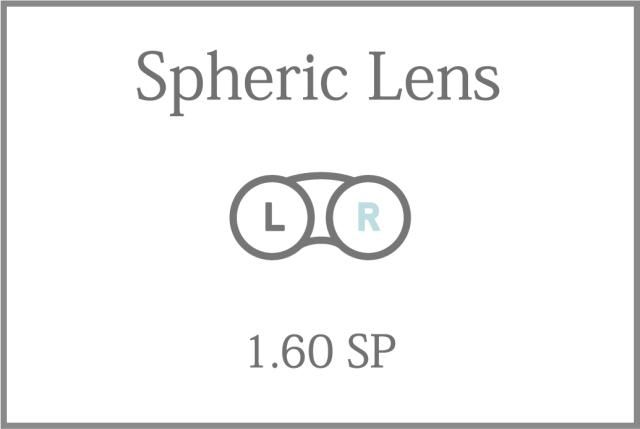 プラスチック 単焦点 1.60薄型 球面レンズ