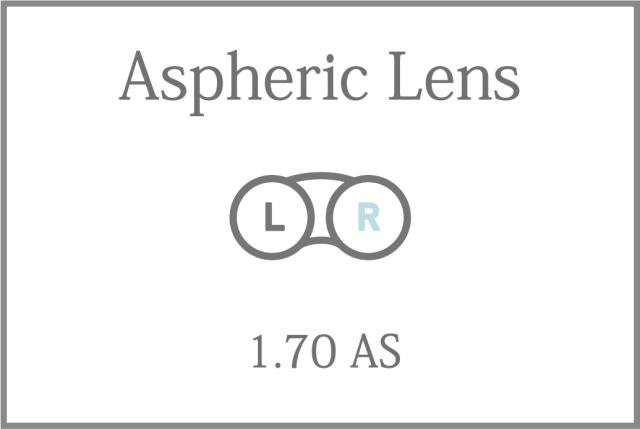 プラスチック 単焦点 1.70超薄型 非球面レンズ